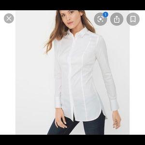 WHBM long shirt button down size10